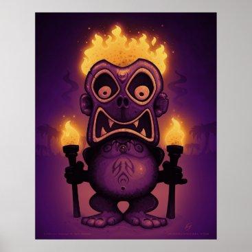 Halloween Themed Tiki Munkee Poster