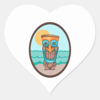 TIKI OVAL HEART STICKERS