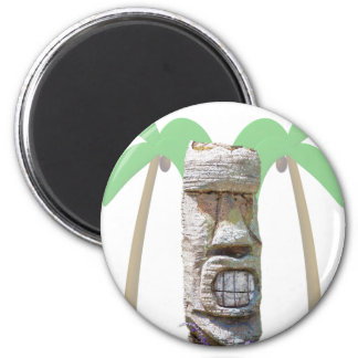 Tiki & Palm Trees 2 Inch Round Magnet