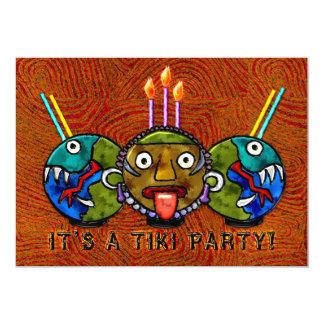 Tiki Party (2-Sided Invitation) 5x7 Paper Invitation Card