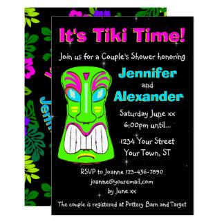 Tiki Party Couple's Shower Invitation
