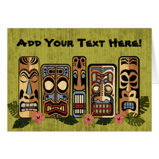 Tiki Party Greeting Card