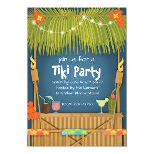 tiki party invitations zazzle