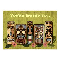 "Tiki Party Invitations 5"" X 7"" Invitation Card"