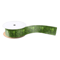 Tiki Pattern Satin Ribbon