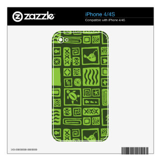 Tiki Pattern Skins For iPhone 4