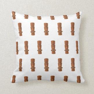 Tiki Pattern white Throw Pillow