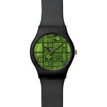 Tiki Pattern Wristwatches