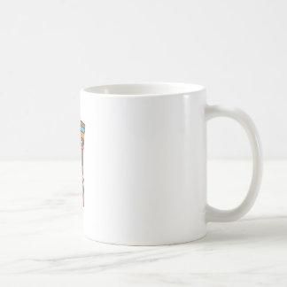 TIKI PLAYING DRUM CLASSIC WHITE COFFEE MUG