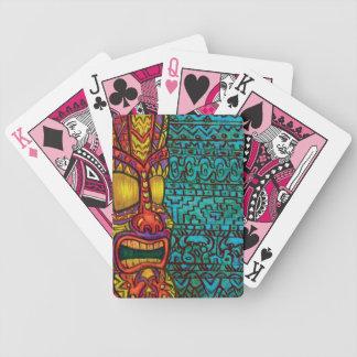 Tiki que juega Carda Baraja De Cartas