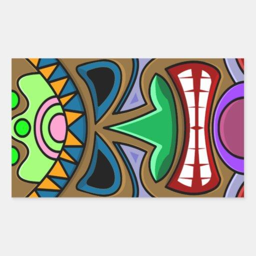 Tiki Rectangular Sticker