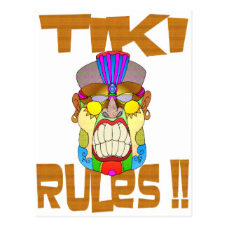 TIKI RULES POSTCARD