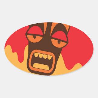 TIKI SCREAM! have a FREAKY Halloween! Sticker