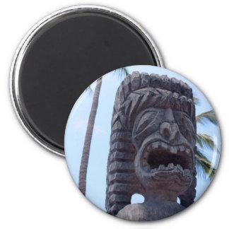 Tiki Statue in Kona, Hawaii - Magnet
