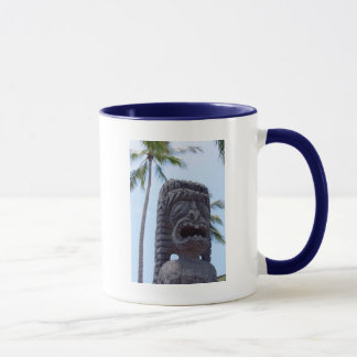 Tiki Statue in Kona, Hawaii - Mug