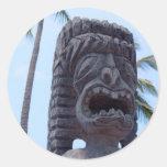 Tiki Statue in Kona, Hawaii - Sticker
