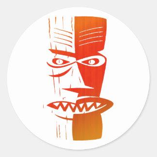 Tiki Classic Round Sticker