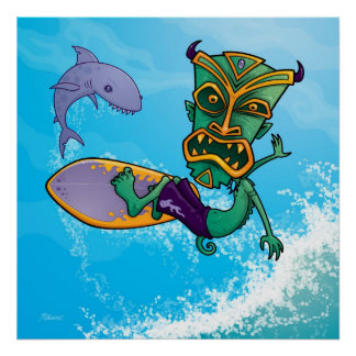Tiki Surfer Posters