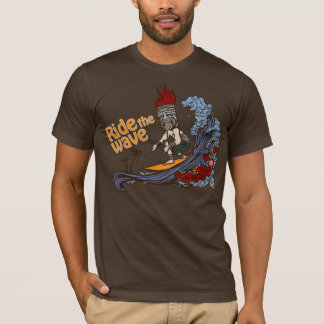 Tiki Surfer: Ride the Wave T-Shirt
