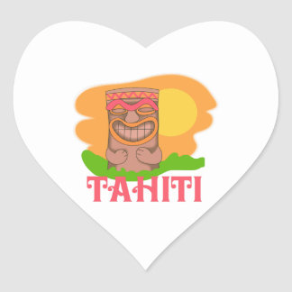 TIKI TAHITI HEART STICKER