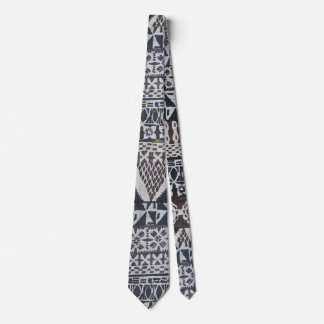 Tiki tapa cloth necktie