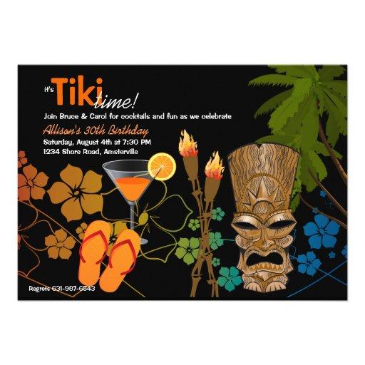 Tiki Time Party Invitation