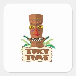 Tiki Time Square Sticker