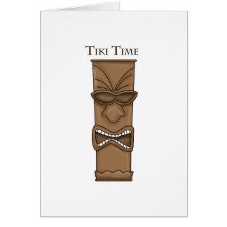 Tiki Time Totem Greeting Cards