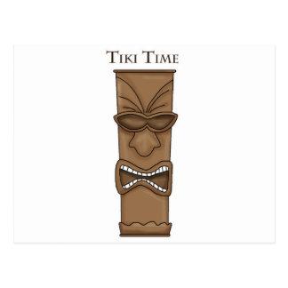 Tiki Time Totem Post Card