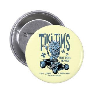 Tiki Tim's 2 Inch Round Button