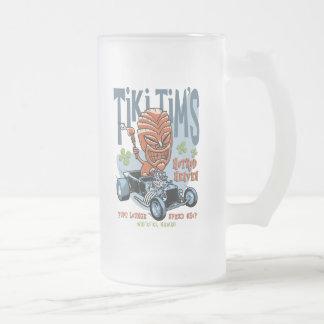 Tiki Tim's II Frosted Glass Beer Mug