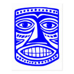 Tiki Toby - azul Postales