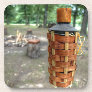 Tiki Torch and Camp Fire Coaster