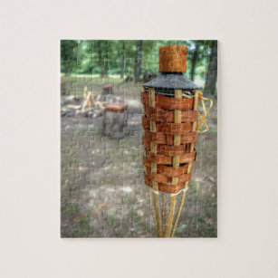 Tiki Torch and Camp Fire Jigsaw Puzzle