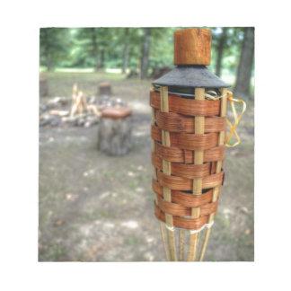 Tiki Torch and Camp Fire Scratch Pad