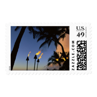 Tiki Torches Hawaii Stamps
