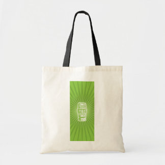 Tiki tote bag (green)