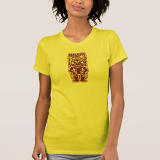 tiki totem warrior burgundy T-Shirt