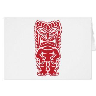 tiki totem warrior card
