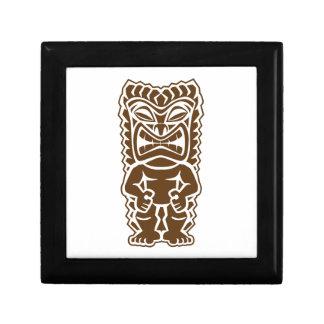 Tiki Totem Warrior Jewelry Box