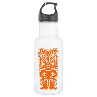 tiki totem warrior orange 18oz water bottle
