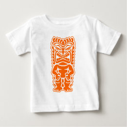 tiki totem warrior orange baby T-Shirt