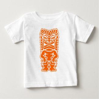 tiki totem warrior orange baby T-Shirt