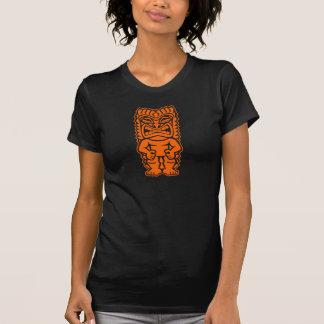 tiki totem warrior orange T-Shirt