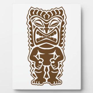 Tiki Totem Warrior Plaques