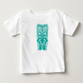 tiki totem warrior teal baby T-Shirt