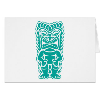 tiki totem warrior teal card