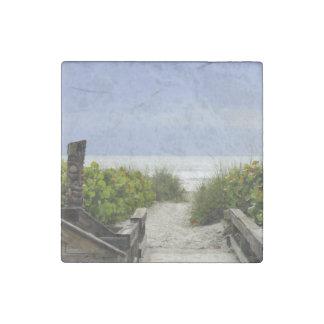 Tiki Trail Stone Magnet