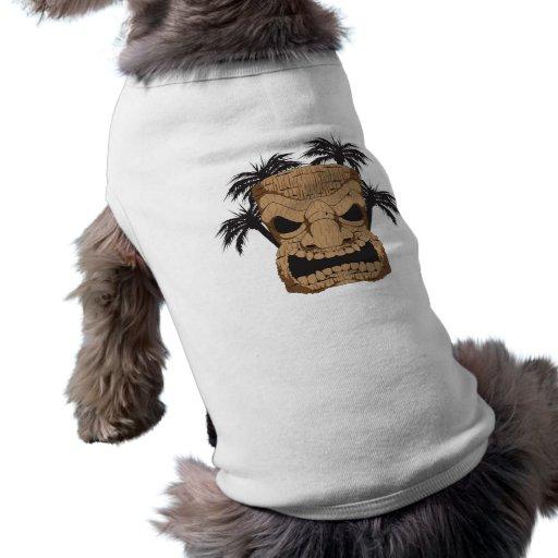 Tiki travieso que talla la camisa del perro playera sin mangas para perro