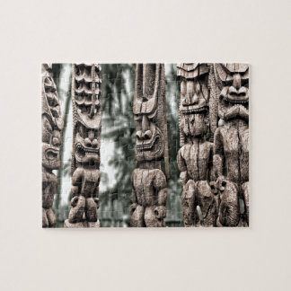 Tiki Tribal Council Jigsaw Puzzle
